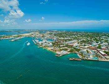 Ariel photo of Key West and the surrounding waters