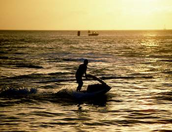 Jet Ski at Sunset