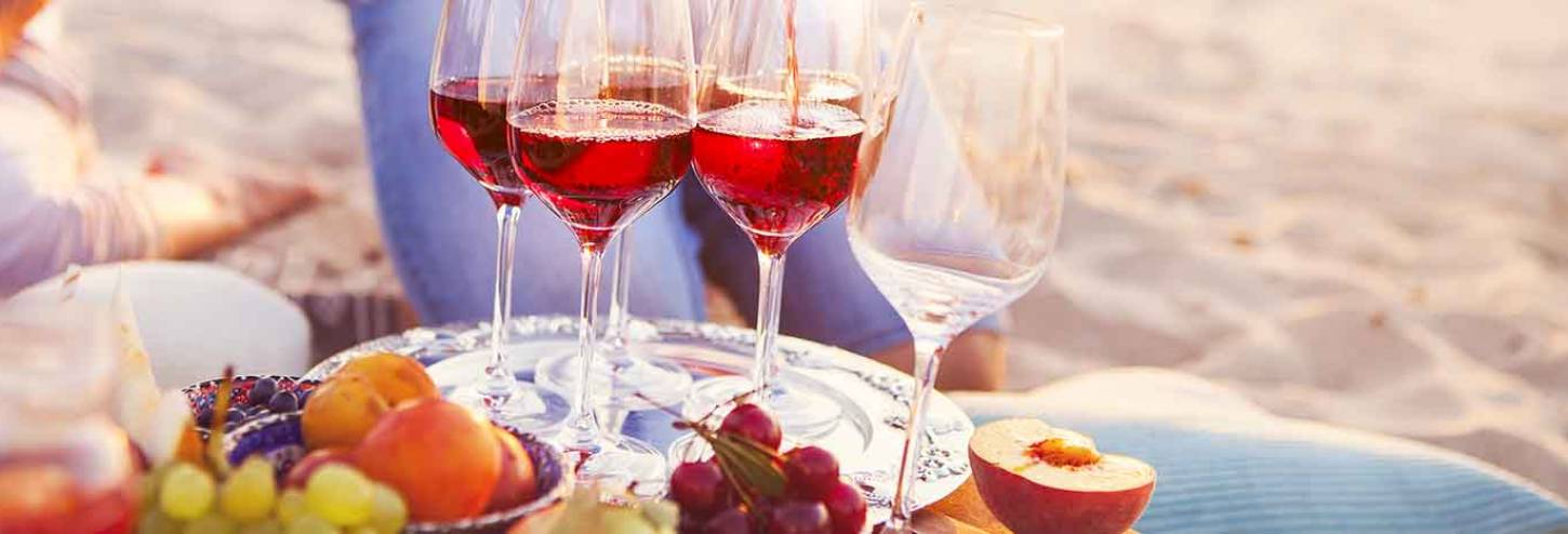 Wine and fresh fruit at the Key West Wine and Food Festival