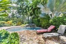 key west vacation home patio by the pool
