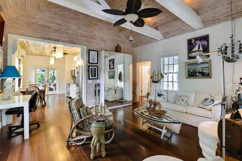 A Key West vacation rental living room