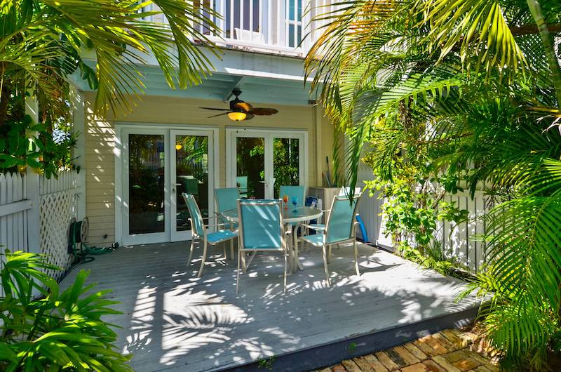 A patio of a Key West vacation rental
