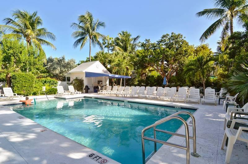 A community pool in Key West