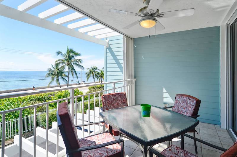 A view from a Key West vacation rental balcony