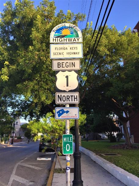 key west mile marker sign